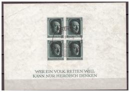 3.Reich: 1937: Block 8, Gestempelt - Deutschland
