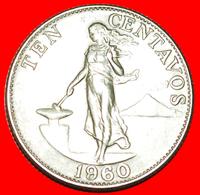 + ANVIL (1958-1966): PHILIPPINES ★ 10 CENTAVOS 1960! LOW START ★ NO RESERVE! - Philippinen