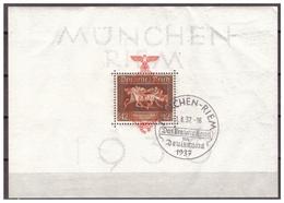 3.Reich: 1937: Block 10, Gestempelt - Deutschland
