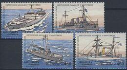 MVS-BK1-122 MINT ¤ URUGUAY 1991 4w In Serie ¤ MARITIEM - VOILIERS - ZEILSCHEPEN - SAILING SHIPS OVER THE WORLD - Maritiem