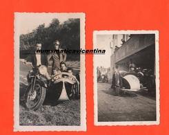 Moto Triumph Sidecar Sydecar 1937 Holds Photo 1 Con Box Su Circuito Con Monumento E Fascio Littorio - Automobiles