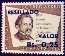 Venezuela 1965 Personnalité Personnality Surchargé Overprinted RESELLADO Yvert PA842 ** MNH - Madagaskar (1960-...)
