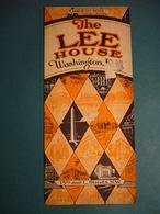 THE  LEE  HOUSE  WASHINGTON D.C.  MAP OF CITY INSIDE  ANNI '30 - Dépliants Turistici