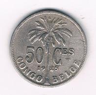 50 CENTIMES 1925  BELGISCH CONGO /5053/ - 1910-1934: Albert I