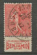SEMEUSE N° 199 TYPE IV PUB BENJAMIN OBL TB - Advertising