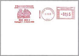 Franqueo Mecanico EXP. NACIONAL MECANOFICIA VITINICOLA - Vino - Wine - SPECIMEN. Casteggio 2005 - Vinos Y Alcoholes