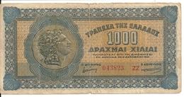 GRECE 1000 DRACHMAI 1941 VF P 117 - Grecia
