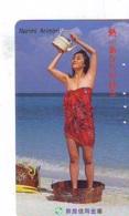 Télécarte Japon * EROTIQUE *   (6496)  *  EROTIC PHONECARD JAPAN * TK * BATHCLOTHES * FEMME SEXY LADY LINGERIE - Mode