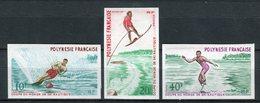 Polinesia Francesa 1971. Yvert 86-88 Imperforated ** MNH. - Non Dentelés, épreuves & Variétés