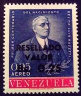 Venezuela 1965 Personnalité Personnality Surchargé Overprinted RESELLADO Yvert PA848 ** MNH - Madagaskar (1960-...)