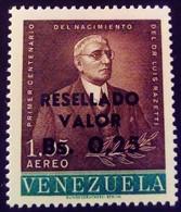 Venezuela 1965 Personnalité Personnality Surchargé Overprinted RESELLADO Yvert PA849 ** MNH - Madagaskar (1960-...)
