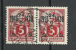 Estland Estonia 1928 Michel 69 Als Ein Paar O Tallinn - Estland