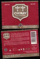 Belgique Lot 2 Étiquettes Bière Beer Labels Chimay Pères Trappistes Brune - Beer