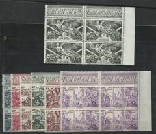 Guyane 1946 PA 28 + PA 29/34, Blocs De 4 Neufs ** MNH, Cote YT 63€ - Ungebraucht