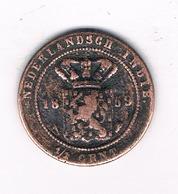 1/2 CENT 1859  NEDRLANDS INDIE /5059/ - [ 4] Colonies
