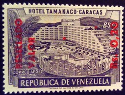 Venezuela 1965 Hôtel Tourisme Tourism Surchargé Overprinted RESELLADO Yvert PA836 ** MNH - Madagaskar (1960-...)