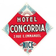 Étiquette D'Hotel Hotel Concordia Nice - Hotel Labels