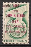 Togo - 1962 - N°Yv. 354 - John Glenn - Surch. Rouge - Neuf Luxe ** / MNH / Postfrisch - Afrika