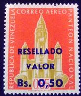 Venezuela 1965 Monument Surchargé Overprinted RESELLADO Yvert PA852 ** MNH - Madagaskar (1960-...)