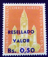 Venezuela 1965 Monument Surchargé Overprinted RESELLADO Yvert PA853 ** MNH - Madagaskar (1960-...)