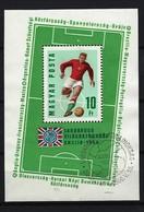 UNGARN - Block Nr. 53 A Fußball-Weltmeisterschaft, England Gestempelt - Blocks & Kleinbögen
