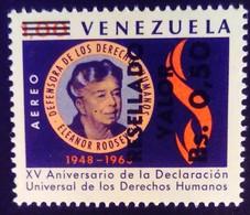 Venezuela 1965 Droits De L'homme Human Rights Surchargé Overprinted RESELLADO Yvert PA854 ** MNH - Madagascar (1960-...)