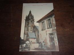 61 Courgeon - Un Coin De La Place Et La Tour - Attelage Agricole - Belle Animation1911 Voyagee Couleur - France
