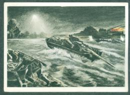 WW2 Wehrmachts Postkarten Nachtangriff Sturmbootpioniere Armée Allemande Militaria - Weltkrieg 1939-45