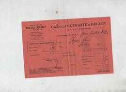 Fils Charvet Gaz électricité Belley Peysson Pollieu Lampes électriques Visseaux - Old Paper