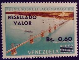 Venezuela 1965 Pont Bridge Surchargé Overprinted RESELLADO Yvert PA855 ** MNH - Madagascar (1960-...)