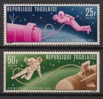 Togo - 1966 - N°Yv. 475 à 476 - Homme Dans L'espace - Neuf Luxe ** / MNH / Postfrisch - Afrika