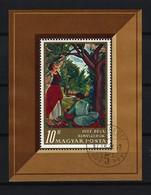UNGARN - Block Nr. 61 A Äpfelpflückerinnen; Von Béla Uitz Gestempelt - Blocks & Kleinbögen