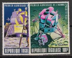 Togo - 1969 - Poste Aérienne PA N°Yv. 109 à 110 - Homme Sur La Lune - Neuf Luxe ** / MNH / Postfrisch - Afrika