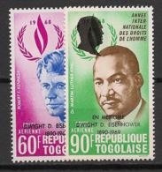 Togo - 1969 - Poste Aérienne PA N°Yv. 113 à 114 - Eisenhower - Neuf Luxe ** / MNH / Postfrisch - Togo (1960-...)