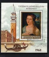 UNGARN - Block Nr. 64 A Bildnis Eines Mädchens; Von Palma Il Vecchio Gestempelt - Blocks & Kleinbögen