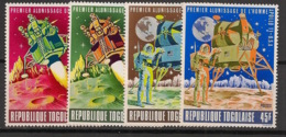 Togo - 1969 - N°Yv. 606 à 609 - Homme Sur La Lune - Neuf Luxe ** / MNH / Postfrisch - Afrika