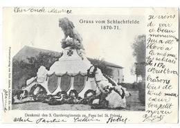 57 - ST PRIVAT / GRAVELOTTE - Monument Aux Morts De La BATAILLE 1870-1871 Carte Pionnière 1901 Edit AMBOS à ZABERN - Francia