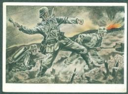 WW2 Wehrmachts Postkarten Sturmpioniere Vor Dem Festungswerk  Armée Allemande Militaria - Weltkrieg 1939-45