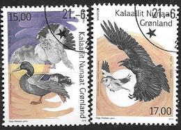 Groënland 2019, Série Oblitérée Europa Oiseaux - Groenland