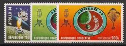 Togo - 1971 - Poste Aérienne PA N°Yv. 151 à 153 - Apollo XIV - Neuf Luxe ** / MNH / Postfrisch - Togo (1960-...)