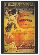 Grande Carte Publicitaire Champagne Mercier Epernay - Advertising