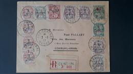 Maroc - Morocco - 1917 - Lettre Recommandée De Fes Pour Oran Avec Croix Rouges - Lettres & Documents