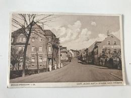 "Carte Postale Ancienne (1928) Brand-Erbisdorf  Café ""Glûck Auf"" - Strasse Nach Freiberg - Brand-Erbisdorf"