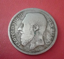 Belgique, Leopold II, 2 Francs, 2 Frank, 1867, B+, Argent       N° 116 D - 1831-1865: Leopold I