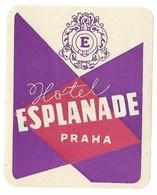 Étiquette D'Hotel Hotel Esplanade Praha République Tchèque - Hotel Labels