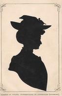 SILHOUETTES  :  SILHOUETTE  DE  FEMME  DES  SILHOUETTISTES   CLAUSEN  ET  NOLDEN   DE  COPENHAGUE  (  DANEMARK )  . - Silhouette - Scissor-type