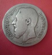 Belgique, Leopold II, 2 Francs, 2 Frank, 1867, B+, Argent       N° 117 D - 09. 2 Franchi
