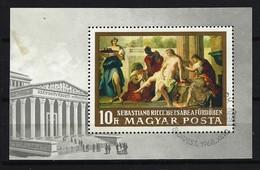 UNGARN - Block Nr. 67 A Bathseba Im Bade; Von Sebastiano Ricci Gestempelt - Blocks & Kleinbögen