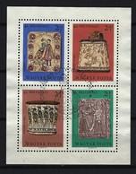 UNGARN - Block Nr. 73 A Meisterwerke Ungarischer Holzschnitzer Gestempelt - Blocks & Kleinbögen