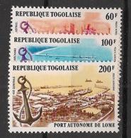 Togo - 1978 - Poste Aérienne PA N°Yv. 342 à 344 - Port De Lomé - Neuf Luxe ** / MNH / Postfrisch - Togo (1960-...)